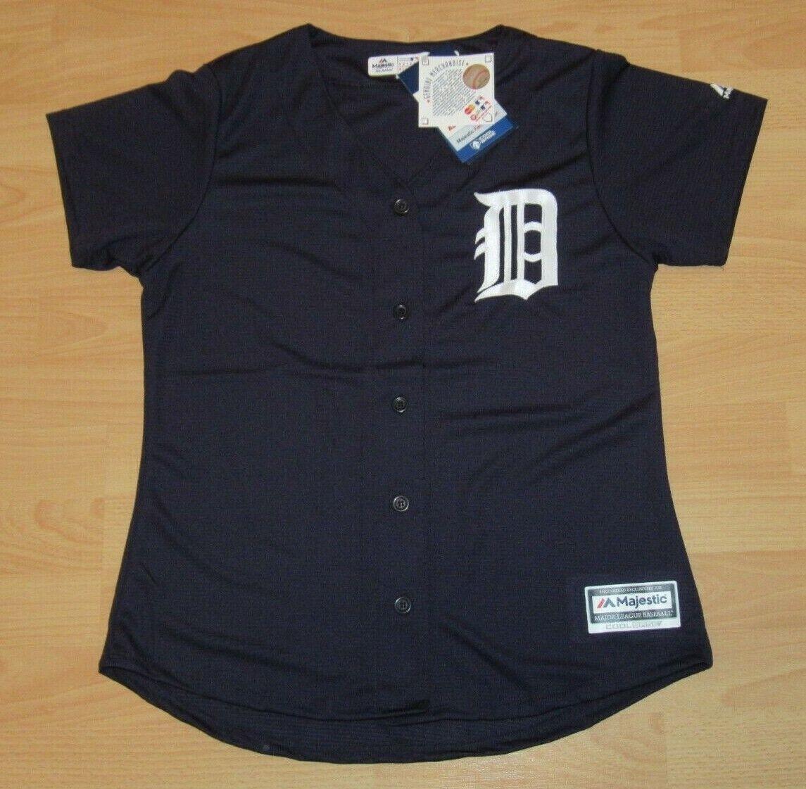 Authentisch Majestic Detroit Tigers Cool Cool Cool Base Entfernt Trikot Damen Gr. S 808437