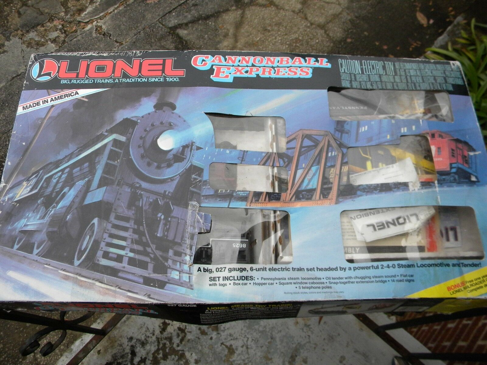Lionel Cannonball Express 027 Gauge---1986, Works
