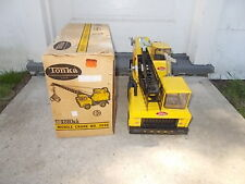 VINTAGE MIGHTY TONKA MOBILE CRANE - NO. 3940, WITH BOX-ORIGINAL PRICE TAG.