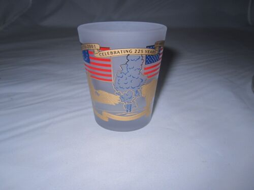 1776 2001 Celebrating 225 years Yellowstone Park Frosted Shot Glass Souvenir