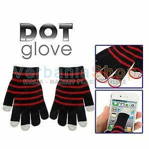DOT-GLOVES-GUANTI-CAPACITIVI-TOUCH-SCREEN-HTC-NOKIA-ANDROID-TAB-TABLET-PAD-RED