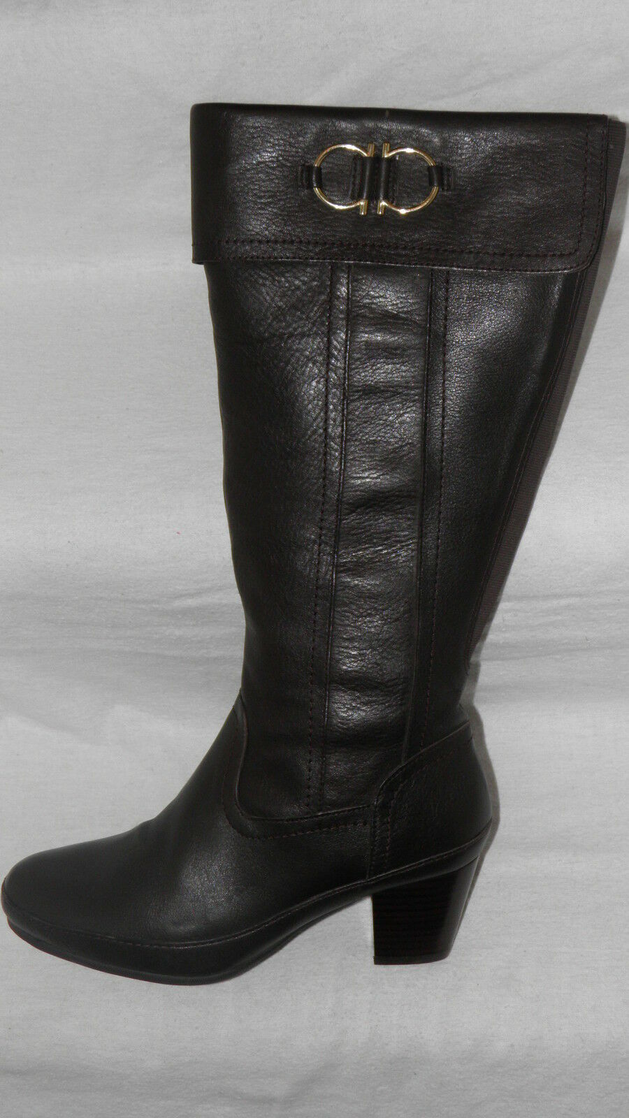 Clarks 'Midst Marlo' Dark Brown Leather knee high ladies 4.5 37.5 Boots Wide fit