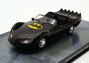 Eaglemoss-modello-IN-SCALA-1-43-AUTO-456-Batman-Batmobile-Nero