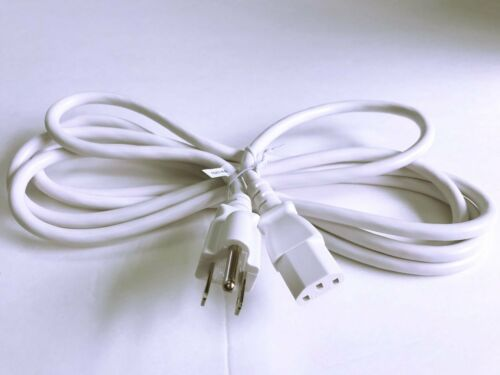 BYBON 12ft 18 AWG SJT Universal Power Cord for computer printer White UL