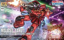 Bandai Gundam The Origin 013 MS-05S ZAKU I Char Aznable's ZAKU I 1/144 Scale Kit