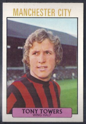 A/&BC-FOOTBALL 1971 PURPLE BACK DYK-#036 MANCHESTER CITY TONY TOWERS