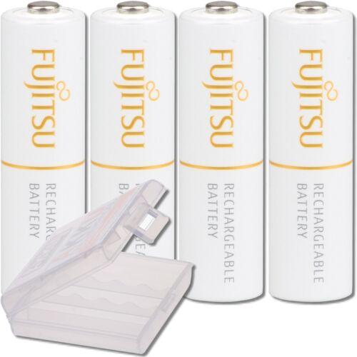 HR-3UTA Mignon Akku Batterien FDK 4 Fujitsu white AA Akkus in Premium Akkubox