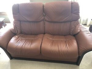 Ekornes Stressless Large High Back 2 Seater Leather Reclining Sofa ...