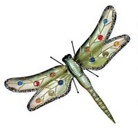 25 Grand Sparkling Giant Dragonfly Hand Crafted Metal & Cabochons Wall Decor