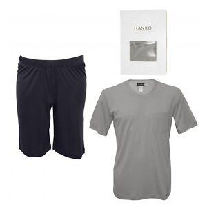 pigiama Pantaloncini Set Hanro da minerale grigio Jersey scuro blu T uomo shirt Day Night FXqYfW5n60