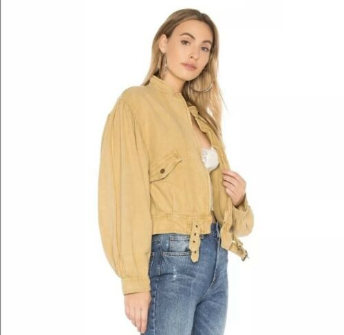 Free People Poet Blouson Sleeve Jacket Large