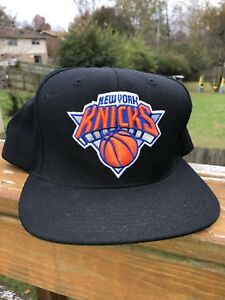 c078db695e6 New York Knicks Mitchell and Ness Hat Snapback Cap NBA Hardwood ...
