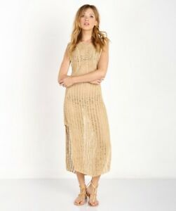 35bc2e063 Indah NIA Maxi Dress Crochet in Sand New with Tags M/L $246 | eBay