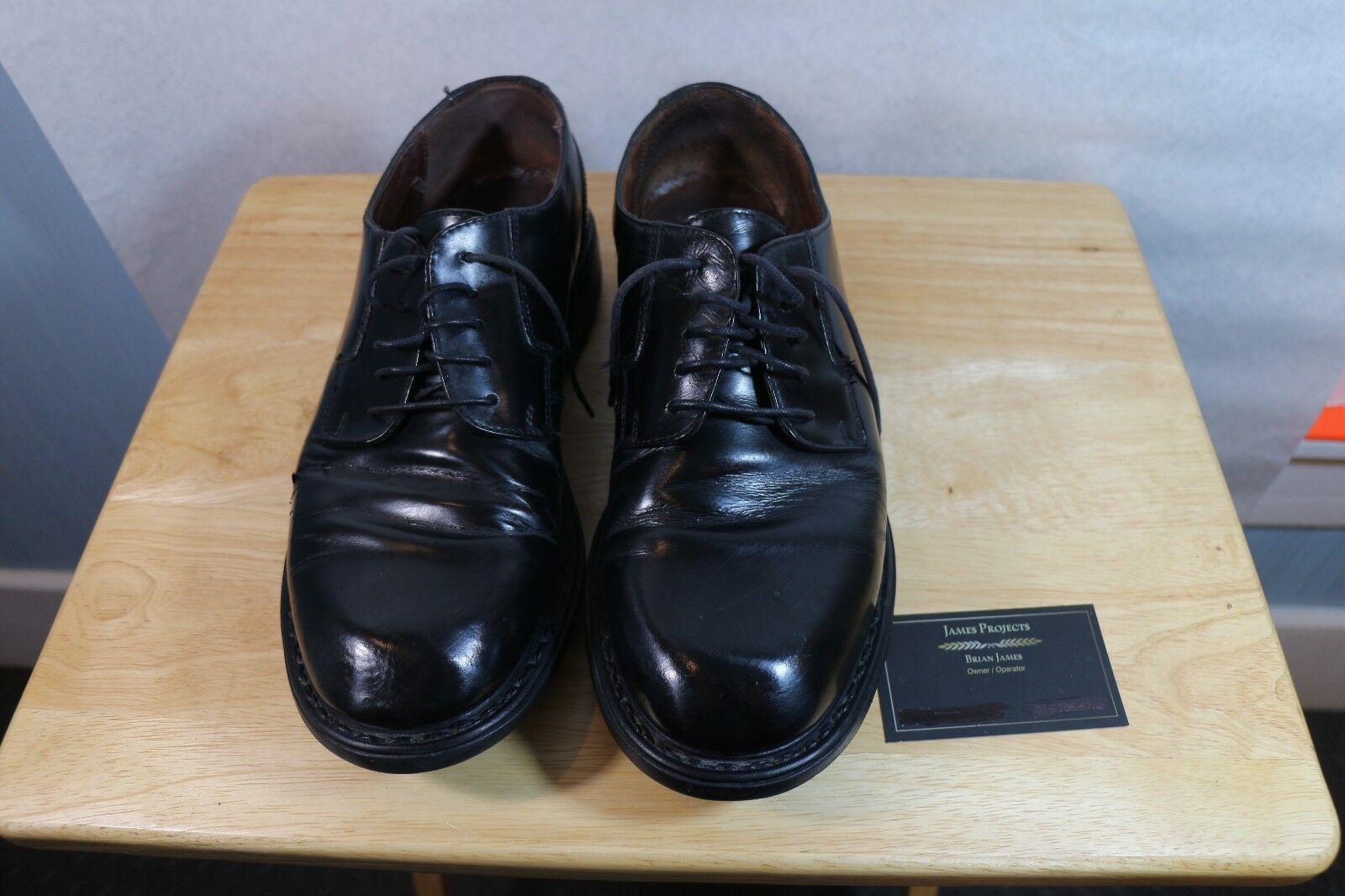 Kenneth Cole Reaction Black Oxfords Men's size 9.5 M Dress Shoes