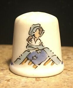 Vintage Thimble Bicentennial 1776 1976 BETSY ROSS FLAG Patriotic 4th of July