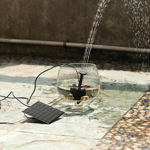 Solar Powered Fountain Pond Garden Water Pump Plant