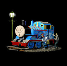 "BANKSY Thomas Tank Engine Tagged CANVAS PRINT poster Graffiti Art 24""x 24"""