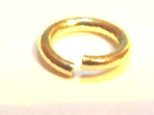 """9ct oro amarillo Jump Ring /""""abierto/"""" 4mm-hallazgos-Salto Anillos-Cuentas-Fabricación de Joyas"""