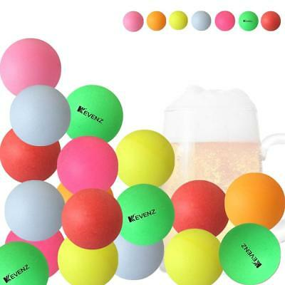 Plastic Table Tennis Ball Pong Games 50-Pack,144-Pack KEVENZ 40mm Beer Ping-Pong Multipul Color Balls,Washable Plastic Glow in The Dark
