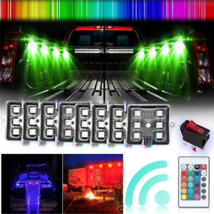 Details About Rgb Led Interior Underbody Light Kit Car Truck Trailer Camper Ambient Lighting