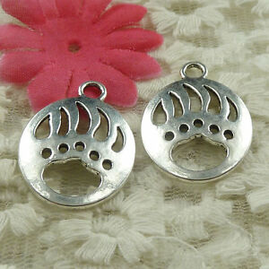 #4603 Free Ship 30 pieces Antique silver oval claw charms 30x22mm