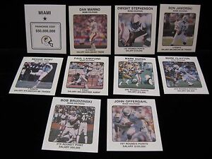 1989-Dan-Marino-Dolphins-NFL-Franchise-Cards-Pick-from-the-drop-down-menu