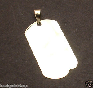 2 MENS MILITARY DOG TAG DISC CHARM PENDANT REAL SOLID 14K YELLOW GOLD 6gr