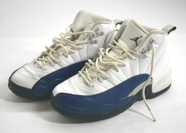 Nike Air Jordan 12 XII Retro White French Blue 153265-113 Youth Shoes Boys 7