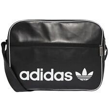 b0dcd86d6f331 adidas Messenger Bag Airliner Vintage Schultertasche Umhängetasche Damen  schwarz