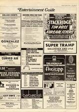 Stackridge Tim Rose Kursaal Flyers Roundhouse, London MM5 show Advert 1975