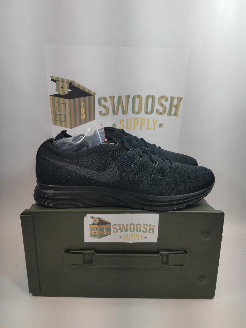 Nike flyknit trainer drei schwarze schwarze schwarze anthrazit laufen kreuz ah8396-004 mens a4e024
