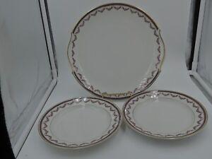 Image is loading Vintage-Limoges-A-Lanternier-Cake-Serving-Plate-&- & Vintage Limoges A. Lanternier Cake/Serving Plate u0026 7