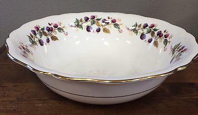 Aynsley Bramble Time Serving Bowl Berries Scalloped Porcelain England RARE!
