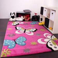 Pink Nursery Rug Baby Girl Bedroom Carpet Children Soft Play Room