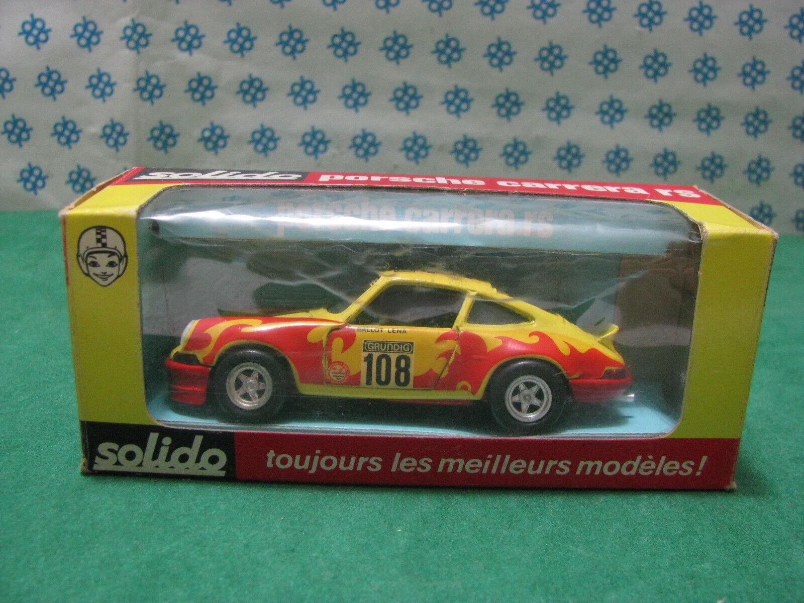 RARE Vintage - PORSCHE Carrera RS Tour Auto 1973 - 1 43 Solido réf. 24