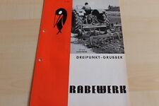 144594) Rabewerk - Dreipunkt Grubber - Prospekt 07/1971