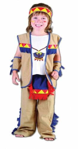 Kids Little Indian Chief World Book Day Fancy Dress Outfit Toddler Costume