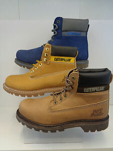 Mens Nubuck Leather Lace Up Caterpillar Boots Colorado