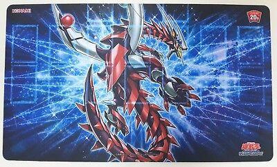 Yugioh 20th ANNIVERSARY BOX Exclusive Playmat Stardust Dragon Konami Rare no box