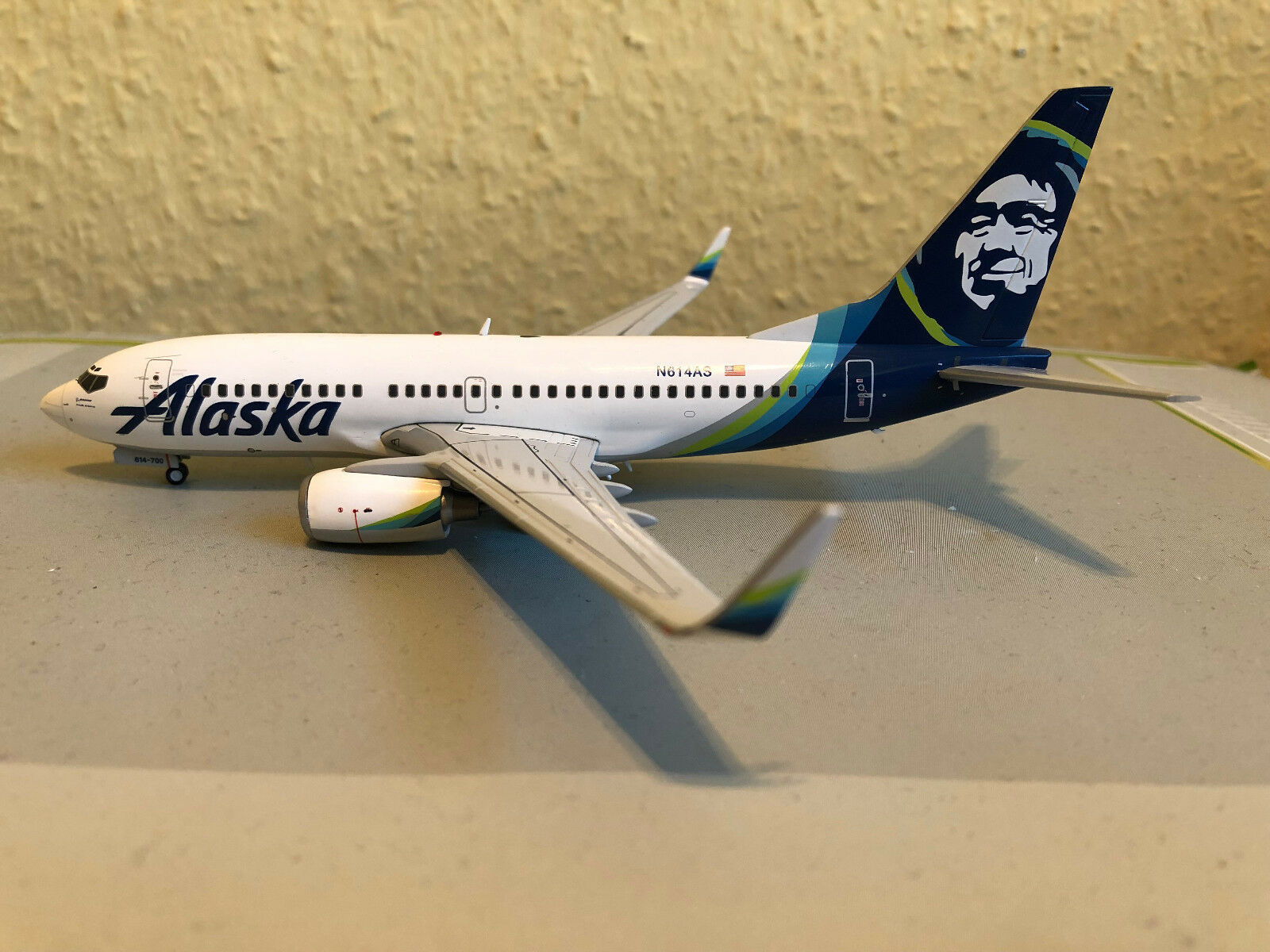 GeminiJets G2ASA778 Alaska Boeing B737-700(W) - new livery - N614AS, 1 200  | Üppiges Design