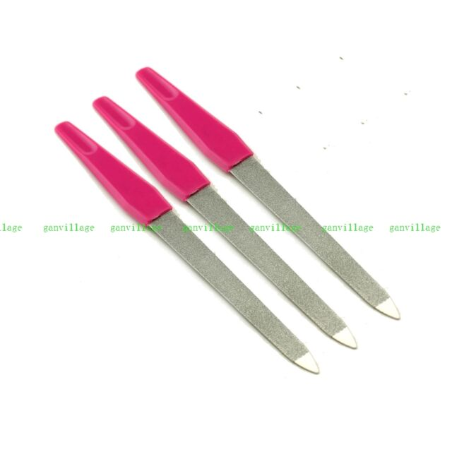 "3pcs 6""inch Durable Metal Nail File Salon For Nail Art Tip Buffing Manicure 15cm"