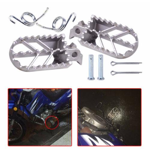 Pair Silver Motorcycle Front Foot Peg Footrest fits Yamaha BMW KTM Kawasaki