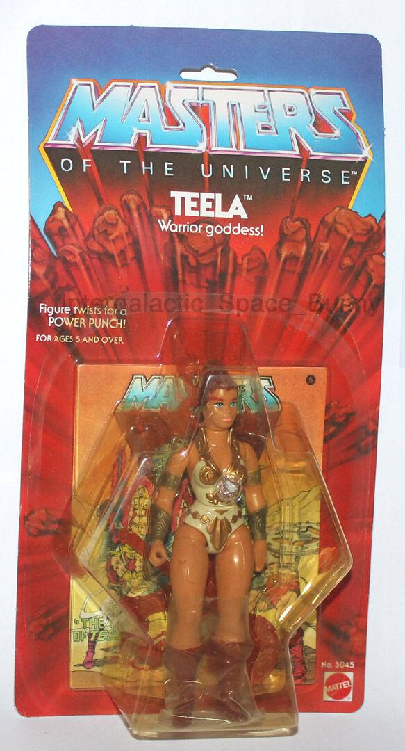 1982 Mattel / Takara Japan MOTU Masters He-Man Teela Carded MOC