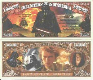Darth-Vader-Anakin-Skywalker-Star-Wars-Commemorative-Million-Dollar-Bills-x-2
