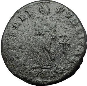 Saint-AELIA-FLACCILA-Theodosius-I-Wife-383AD-Ancient-Roman-Coin-Chi-Rho-i59617