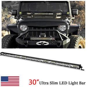 30inch-234W-Slim-LED-Work-Light-Bar-Combo-Flood-Spot-Offroad-SUV-4WD-ATV-UTV-US