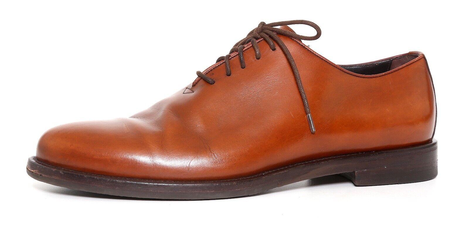 Giorgio Armani Lace Up Leather Oxfords Brown Men Sz 43.5 EUR 1170