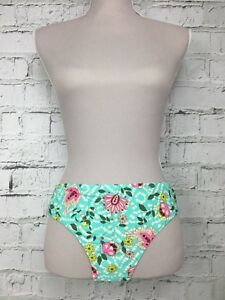 7062f35a8c Image is loading ACCESSORIZE-Turquoise-Pink-Patterned-Bikini-Bottoms-Brief -Womens-
