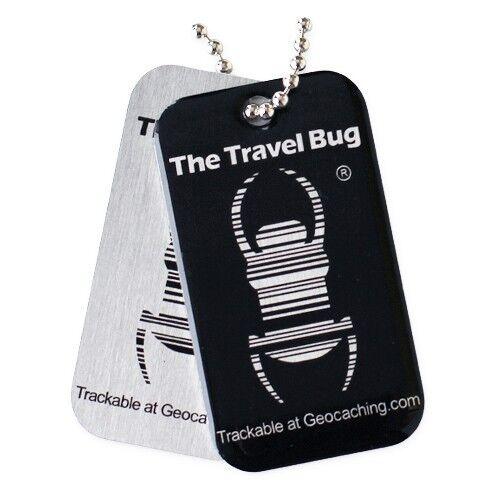 Geocaching QR Travel Bug Black