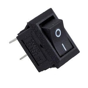 2X-5-x-interrupteur-a-bascule-mini-bateau-250VAC-3A-2-Pin-I-O-SPST-WT